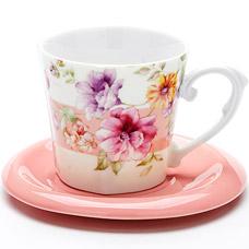 Чайная пара Lorraine LR-24713, 2пр 230мл ЦветыСервировка стола<br><br>