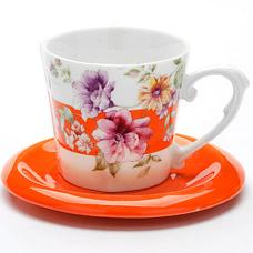 Чайная пара Lorraine LR-24715, 2пр 230мл ЦветыСервировка стола<br><br>