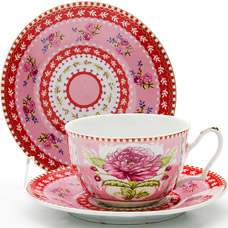 Чайная пара Lorraine LR-24583, 2пр 250мл ЦветокСервировка стола<br><br>
