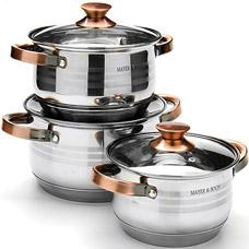 Набор посуды Mayer&amp;Boch MB-24952, 6пр 2,1+2,9+3,9лПосуда<br><br>