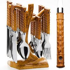 Набор столовых приборов Mayer&amp;Boch MB-20004 24пр, подставкаСтоловые приборы<br><br>
