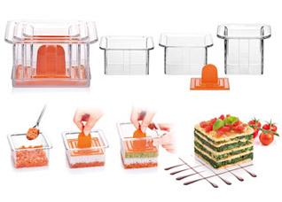 Формочки для придания блюдам формы Presto FoodStyle, квадраты, 3 шт. Tescoma 422212Обработка продуктов<br><br>
