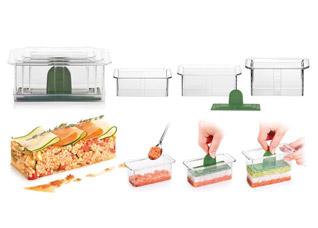 Формочки для придания блюдам формы Presto FoodStyle, прямоугольник, 3 шт. Tescoma 422214Обработка продуктов<br><br>