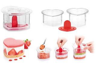 Формочки для придания блюдам формы Presto FoodStyle, сердце, 2 шт. Tescoma 422218Обработка продуктов<br><br>