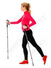Палки телескопические для скандинавской ходьбы Нордик стайл Bradex SF 0076Товары для здоровья<br><br>