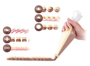 Двухсекционный мешочек для украшения блюд Delicia 30 cм, 10 шт., 6 насадок Tescoma 630479Выпечка<br><br>