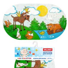 Коврик для ванны, 69x39см, Лесные животные Valiant K6939-FRТовары для ванной комнаты<br><br>