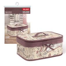 Корзина стеллажная с крышкой, складная, бамбук, 32x23x14 см, Romantic Valiant RM-BB-MТовары для гардероба<br><br>