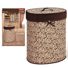 Корзина для белья с крышкой, складная, бамбук, 30x40x55 см, Classic Valiant CL-BB-XLТовары для гардероба<br><br>