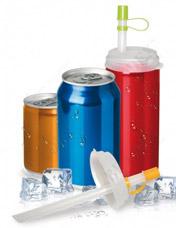 Набор трубочек с крышкой для газированных напитков Bradex TK 0161Барные принадлежности<br><br>