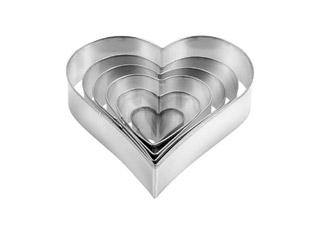 Формочки - сердца Delicia, 6 шт., Tescoma 631362Выпечка<br><br>