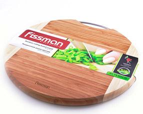 Разделочная доска круглая 35,6 x 1,9 см Fissman 8803Ножи и столовые приборы<br><br>