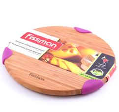 Разделочная доска круглая 25,4 x 2,1 см Fissman 8804Ножи и столовые приборы<br><br>