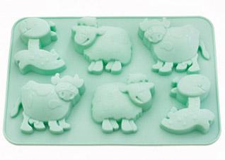 Форма для выпечки 6 кексов Лошадка, овечка, коровка 25 x 17 x 3 см Fissman 6648Выпечка<br><br>