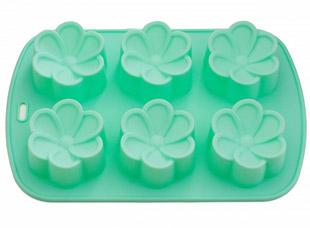 Форма для выпечки 6 кексов Цветы 26,5 x 17 x 3 см Fissman 6657Выпечка<br><br>