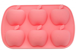 Форма для выпечки 6 кексов Яблоки 26 x 17,8 x 3 см Fissman 6665Выпечка<br><br>