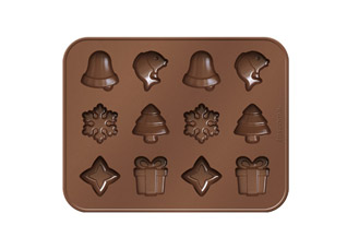 Формочки для шоколада Delicia Silicone, рождественские мотивы, Tescoma 629372Выпечка<br><br>