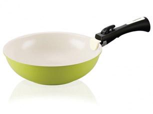 Сковорода - вок Click 28 х 8,7 см / 3,3 л со съемной ручкой Fissman 4636Сковороды<br><br>