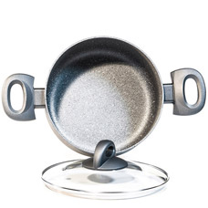 Кастрюля Moon Stone 20 х 9 см / 2.8 л со стеклянной крышкой Fissman 4408Кастрюли<br><br>