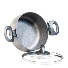 Кастрюля Moon Stone 24 х 11 см / 4.9 л. со сиеклянной крышкой Fissman 4409Кастрюли<br><br>