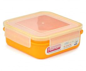 Квадратный контейнер для хранения продуктов 15 x15 x 5,6 см / 700 мл Fissman 6746Кухонные аксессуары<br><br>