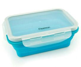 Складной прямоугольный контейнер для хранения продуктов 17 x 12 x 6 см / 500 мл Fissman 7490Кухонные аксессуары<br><br>