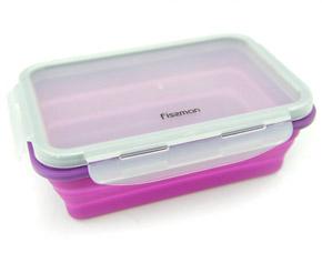 Складной прямоугольный контейнер для хранения продуктов 19 x13 x 6 см / 700 мл Fissman 7491Кухонные аксессуары<br><br>