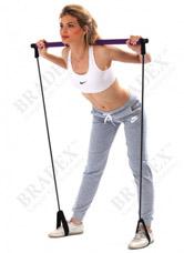 Палка гимнастическая с эспандерами Пилатес студио Bradex SF 0072Товары для фитнеса<br><br>