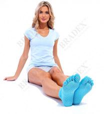 Носки противоскользящие для занятий йогой Bradex SF 0085Товары для фитнеса<br><br>