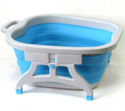 Ванночка складная силиконовая для ног с массажными элементами Foldable Foot BucketТовары для здоровья<br><br>