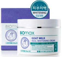 BIOmax интенсивно отбеливающий крем с экстрактом козьего молока 100 мл 8803348024606Корейская косметика<br><br>