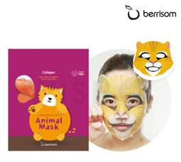 Маска для лица серии Berrisom Animal mask – Кошка 25мл 8809211650958Корейская косметика<br><br>