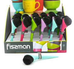 Щетка для мытья посуды 18 x 5 см Fissman 7427Кухонные аксессуары<br><br>