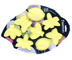 Форма для выпечки 8 кексов Насекомые 26 x 14,5 x 3 см Fissman 6680Выпечка<br><br>