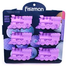 Форма для выпечки 6 кексов Паровозики 22 x 20 x 2,5 см Fissman 6724Выпечка<br><br>