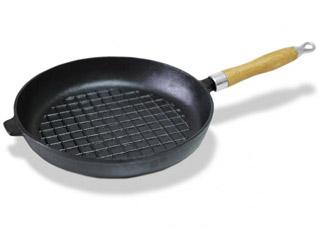 Чугунная сковорода с рифленым дном 27 х 4.8 см Fissman 4096Сковороды<br><br>
