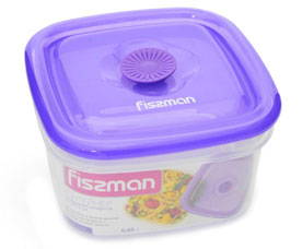 Квадратный контейнер для хранения продуктов 13 x 13 x 7.5 см / 650 мл Fissman 6772Кухонные аксессуары<br><br>