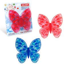 Мини-коврик Бабочка на присосах, набор 6 шт., голубой+розовый, 13x12.7 см Valiant K6-07BТовары для ванной комнаты<br><br>
