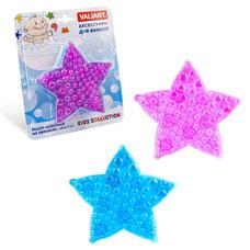Мини-коврик Морская звезда на присосах, набор 6 шт., голубой/лиловый, 12x12 см Valiant K6-1627Товары для ванной комнаты<br><br>