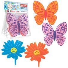Набор мини-ковриков для ванной комнаты Бабочки-цветочки (на присосах), 4 шт. Valiant MIX4S8Товары для ванной комнаты<br><br>
