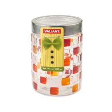 Банка с метал. крышкой, color series, круглая, 11x11x17 см, 1350 мл Valiant JK-C1350Хранение продуктов<br><br>