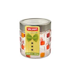 Банка с метал. крышкой, color series, круглая, 11x11x12 см, 960 мл Valiant JK-D960Хранение продуктов<br><br>