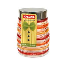 Банка с метал. крышкой, color series, круглая, 9x12x16 см, 1300 мл Valiant JP-C1300Хранение продуктов<br><br>