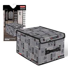 Короб стеллажный с крышкой, большой, 30x40x25 см, Japanese Black  Valiant JB-BOX-LMТовары для гардероба<br><br>