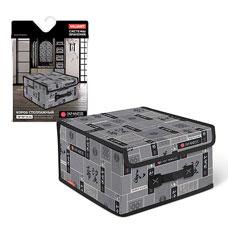 Короб стеллажный с крышкой, малый, 28x30x16 см, Japanese Black  Valiant JB-BOX-LSТовары для гардероба<br><br>