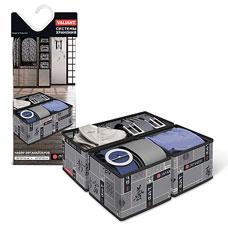 Набор органайзеров, 3 шт., без крышки, 28x14x11 см, 14x14x11 см, Japanese Black  Valiant JB-S3Товары для гардероба<br><br>
