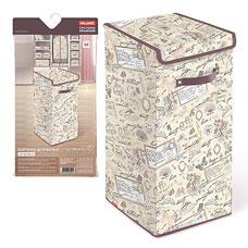 Корзина для белья с крышкой, 35x35x60 см, Romantic Valiant RM-BOX-LXLТовары для гардероба<br><br>
