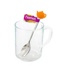Чайная ложечка с силиконовой фигуркой 13 см Чайник Fissman 3770Ножи и столовые приборы<br><br>