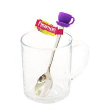 Чайная ложечка с силиконовой фигуркой Чашка 13 см Fissman 3771Ножи и столовые приборы<br><br>