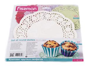Комплект из 40 круглых салфеток 20 см Fissman 6612Выпечка<br><br>